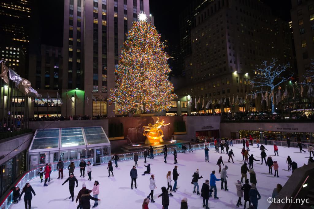 2019年クリスマスシーズンのロックフェラーセンター