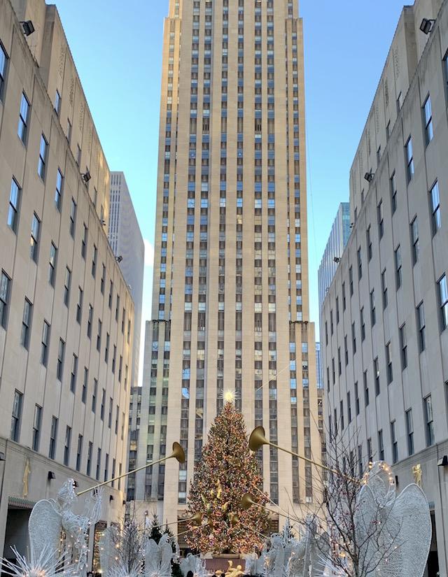 2020年ロックフェラーセンターのクリスマスツリー1
