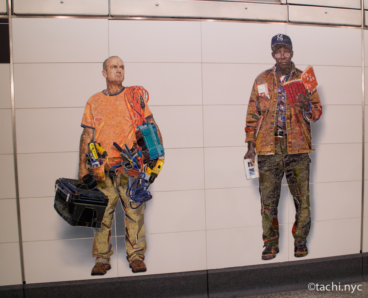 "Vik Muniz's ""Perfect Strangers"" at Second Avenue-72nd Street."