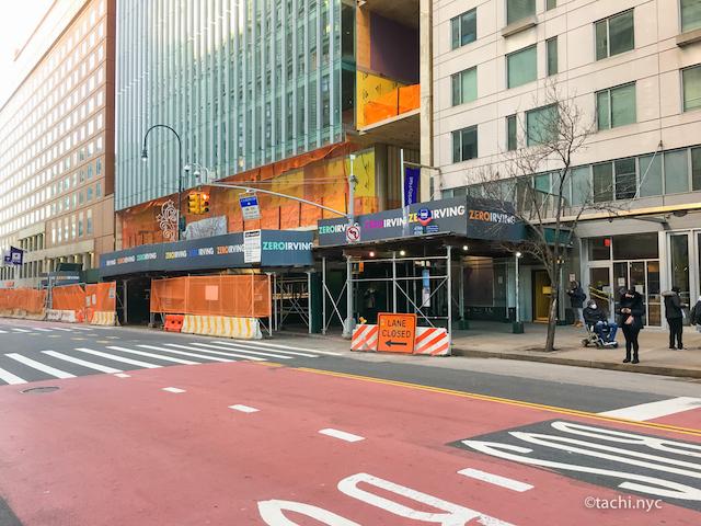 NYCはあちこちで工事中 NYC マンハッタン ユニオンスクエア1