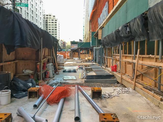 NYCはあちこちで工事中 NYC マンハッタン ユニオンスクエア2