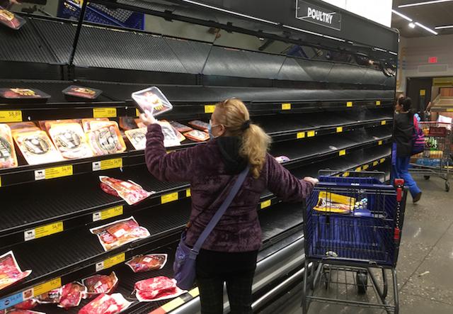 2020年3月13日 NYCクイーンズ区のスーパー 非常事態宣言の翌日