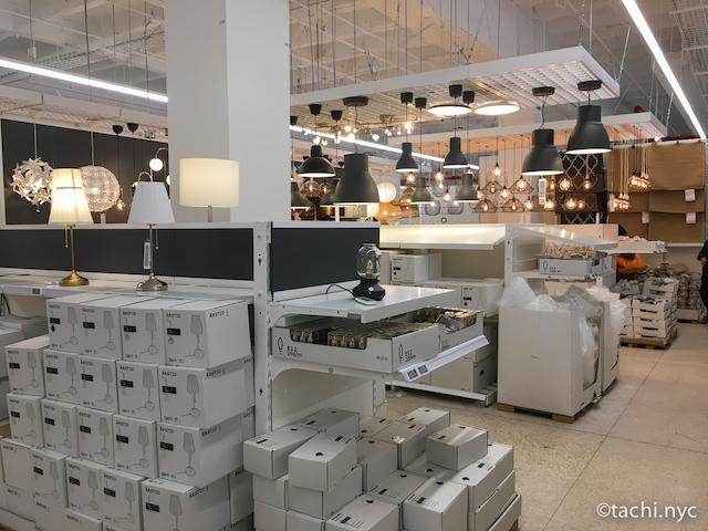 NYCクイーンズ区 IKEA ライティング系