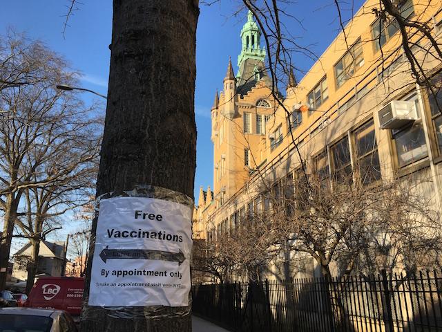 2021年2月 ワクチン接種会場 NYCクイーンズ区公立高校