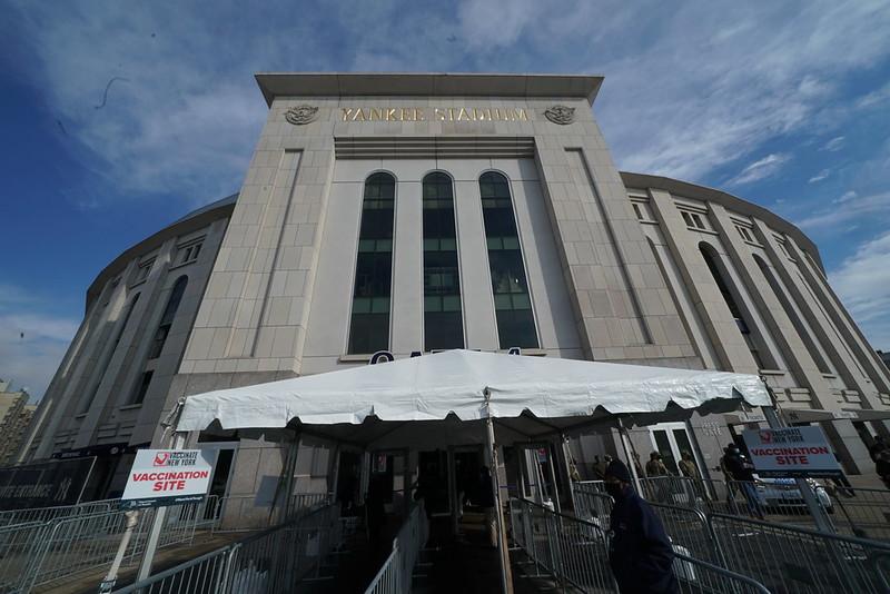 2021年2月5日 ワクチン接種会場 NYCヤンキースタジアム(C)New York State Gov