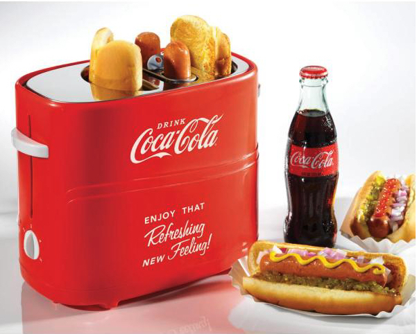 コカコーラ柄ホットドッグトースター