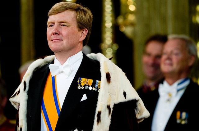 2013年の即位式のウィレム=アレクサンダー王