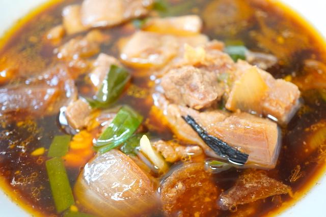 具材いっぱいのスープ