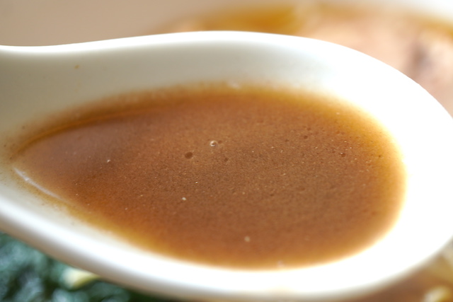 パウダーを溶かしたスープ