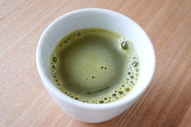 できあがった緑茶