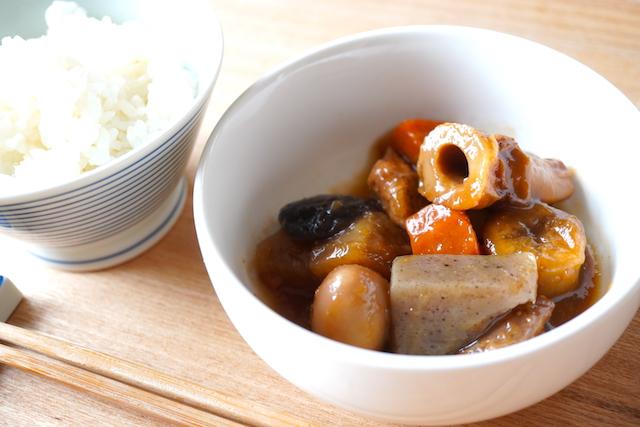 ご飯と味噌煮