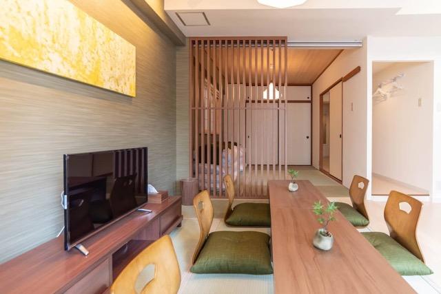 リモートワーク、Airbnb、大阪、日本橋、和室、和風