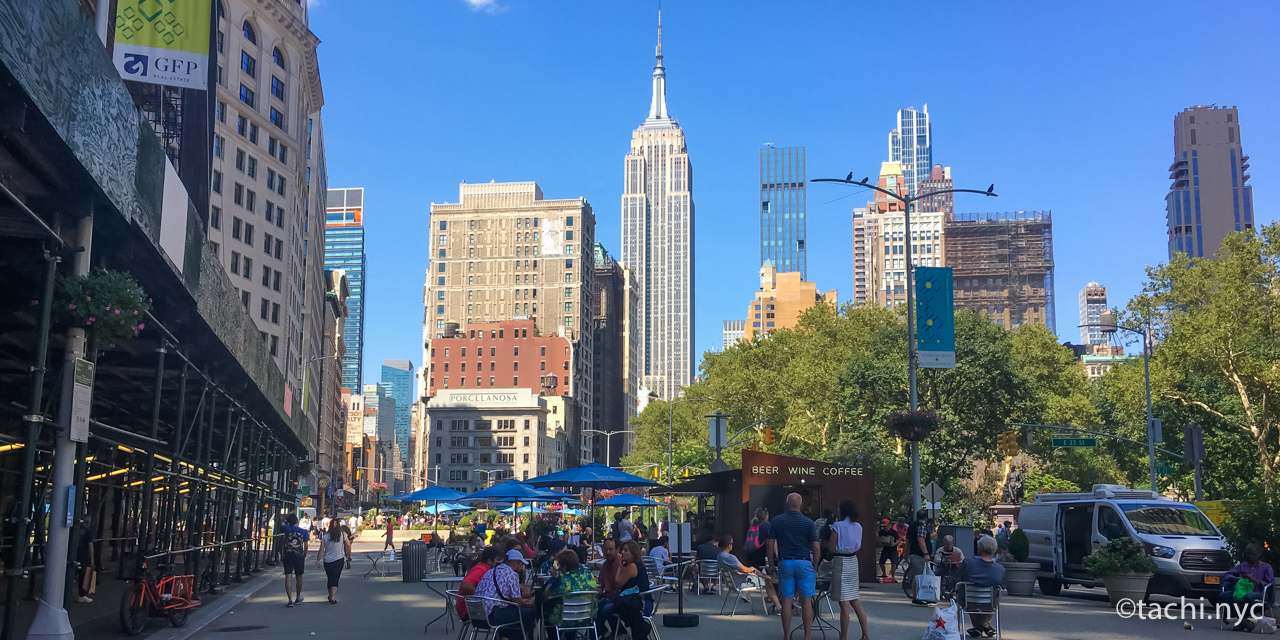 NYC エンパイアステートビルディング 2021年7月31日 (C)Hideyuki Tatebayashi
